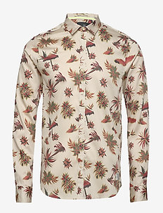 REGULAR FIT- Lightweight shirt with all-over Hawaiian print - COMBO A