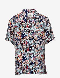 HAWAII FIT- Viscose Hawaii shirt - krótki rękaw - combo a