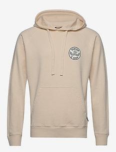 Relaxed hoodie in organic cotton felpa - basic sweatshirts - ecru
