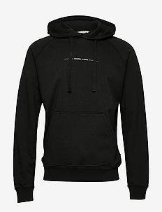 Relaxed hoodie in organic cotton felpa - basic sweatshirts - fern