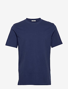Classic crewneck tee in organic cotton jersey - basis-t-skjorter - worker blue