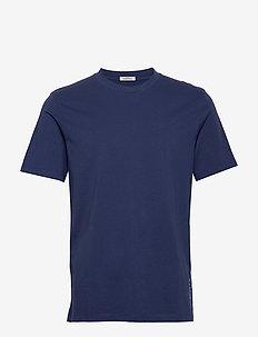 Classic crewneck tee in organic cotton jersey - podstawowe koszulki - worker blue