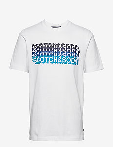 Gradient logo artwork tee - WHITE