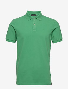 Garment-dyed stretch pique polo - kortærmede - paradise green