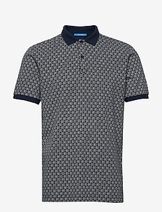 All-over printed polo in stretch pique quality - kortærmede - combo a