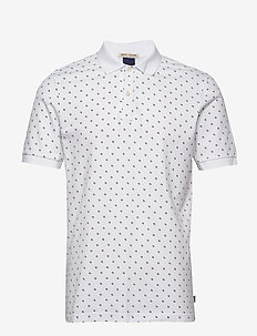 All-over printed polo in stretch pique quality - kortærmede - combo b