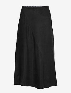Midi length skirt in bias cut - midi kjolar - black