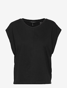 Boxy fit tee - t-shirts - black