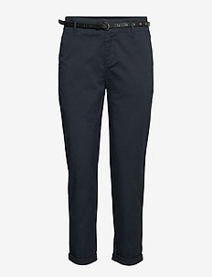 Regular fit chino, sold with a belt - chinos - night