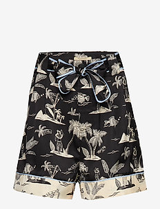 Printed shorts with belt - COMBO H