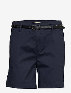 Longer length chino shorts, sold with a belt - chino shorts - night