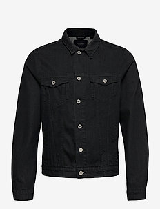 Ams Blauw trucker jacket - organic cotton - Clean Black - jeansjackor - clean black