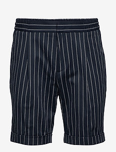 Sporty pinstripe suit short - casual shorts - combo a