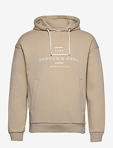 Scotch & Soda hooded sweat - hoodies - natural cloth