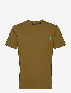 Fabric dyed pocket tee - basic t-shirts - military green