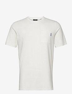 Fabric dyed pocket tee - basic t-shirts - off white
