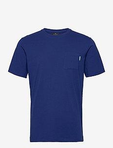 Fabric dyed pocket tee - basic t-shirts - yinmin blue