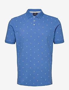 Allover printed polo - short-sleeved polos - combo b