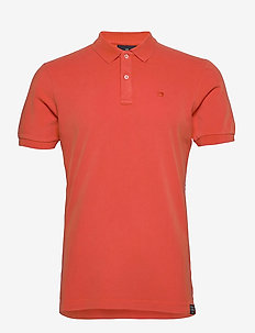 Garment dyed stretch polo - short-sleeved polos - orange shell