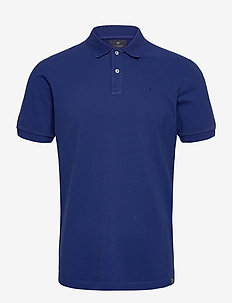 Garment dyed stretch polo - short-sleeved polos - yinmin blue