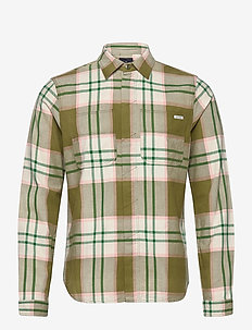 Longsleeve shirt in mid weight flannel - checkered shirts - combo a