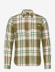 Longsleeve shirt in mid weight flannel - geruite overhemden - combo a