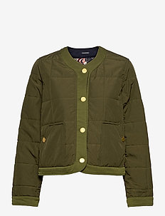 Reversible special quilted jacket - vestes matelassées - military green