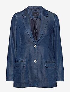 Ams Blauw chic denim Tencel blazer - blazers - indigo