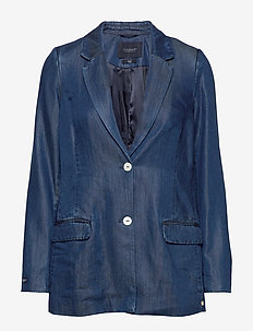 Ams Blauw chic denim Tencel blazer - colberts - indigo
