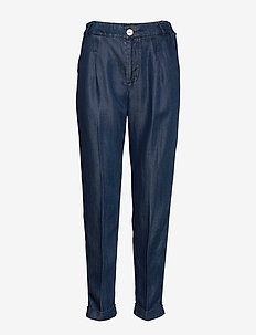 Chino pant in drapey Tencel indigo quality - chinokset - indigo