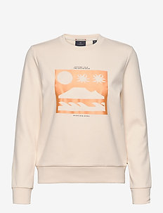 Scotch sweat with theme artworks - sweatshirts - light apricot