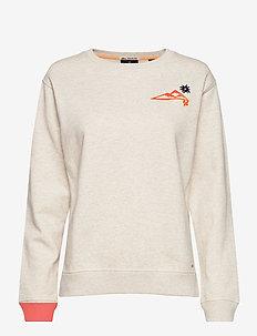 Crewneck sweat with various artworks - sweatshirts - off white melange