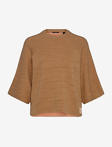 Club nomade knitted pull - knitted tops & t-shirts - camel melange