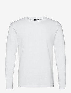 Longsleeve tee in heavy organic cotton - basic t-shirts - denim white