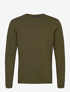 Longsleeve tee in heavy organic cotton - perus t-paidat - military green