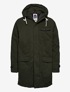 Classic padded organic cotton parka jacket - parkas - army