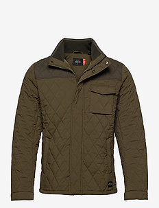 Classic short quilted jacket - quiltede - military