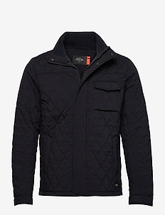 Classic short quilted jacket - quiltede - night