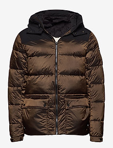 PrimaLoft® down mid-lenght hooded jacket - padded jackets - combo b