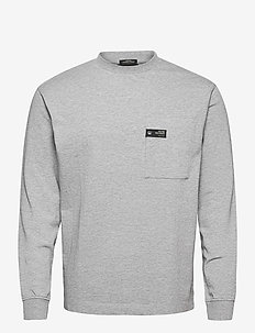 Organic cotton heavy jersey longsleeve tee - basic t-shirts - grey melange