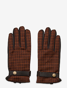 Classic leather and wool gentleman's gloves - rękawiczki - combo a
