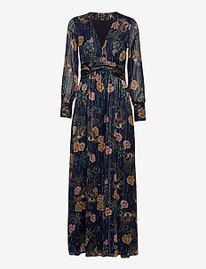 Printed maxi dress in sheer lurex stripe quality - robes longues - combo a