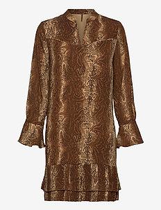Shorter length dress with pleated hem - krótkie sukienki - combo d