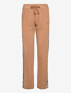 Sweatpants with side tapes - sweatpants - camel