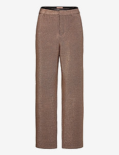 Wide leg pants in stretch lurex quality - rette bukser - combo z