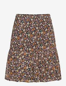Shorter length printed skirt - midi skjørt - combo d