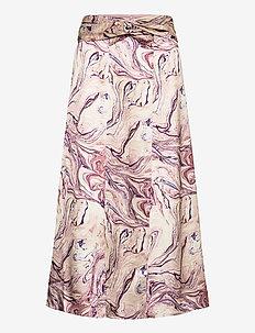 Satin midi length skirt with knot detail - spódnice do kolan i midi - combo h