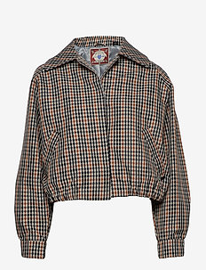 Short jacket in check - bomber jakker - combo q