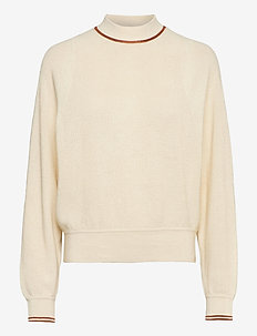 Crewneck  pull with sporty details - jumpers - off white