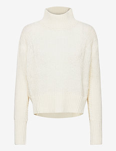 Soft high neck pull - pulls à col roulé - icy white